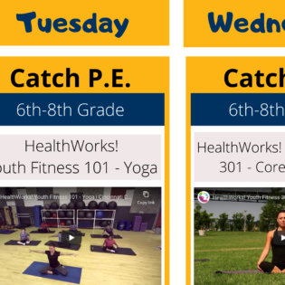 Catch P.E. schedule