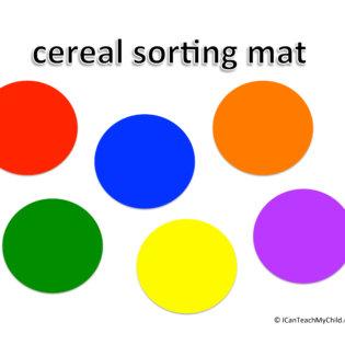 cereal sorting mat