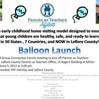 balloon launch flyer