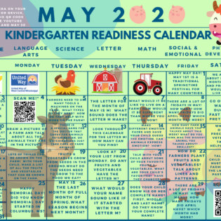 Kindergarten readiness calendar